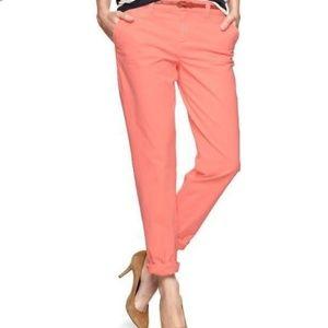 Neon Pink Broken-in Straight Khakis by Gap
